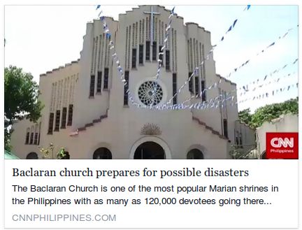 Baclaran church prepares for possible disasters