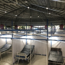 Beds in community quarantine facility.